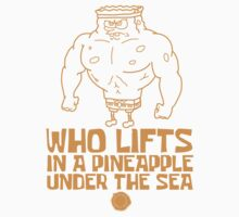 Spongebob - Who Lifts - Yellow One Piece - Short Sleeve