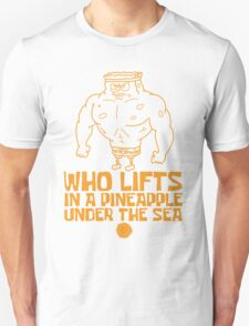 Spongebob - Who Lifts - Yellow T-Shirt