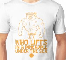 Spongebob - Who Lifts - Yellow Unisex T-Shirt