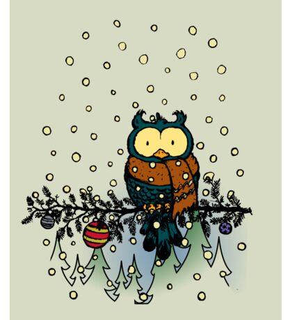 Owl in the snow v2 Sticker