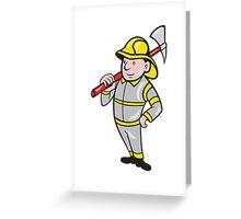 Fireman Firefighter Emergency Worker  Greeting Card