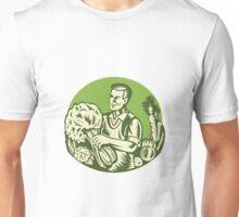 Organic Farmer Green Grocer Vegetable Retro  Unisex T-Shirt