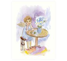 Spring Dreamer Angel Art Print