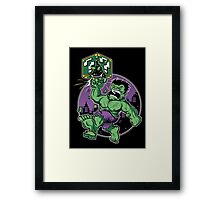 SUPER SMASH GREEN Framed Print