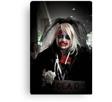 Zombies need love too Canvas Print