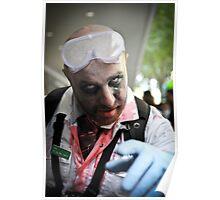 Lab coat Zombie Poster