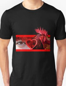 Eye Heart Rooster (I Love Cock) T-Shirt