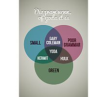 Diagram venn, of Yoda it is Photographic Print
