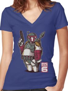 BIG BOBA 6 Women's Fitted V-Neck T-Shirt