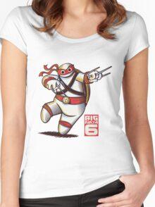 BIG NINJA 6 Women's Fitted Scoop T-Shirt