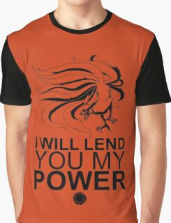 Kurama - I Will Lend You My Power - Black Graphic T-Shirt