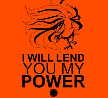 Kurama - I Will Lend You My Power - Black T-Shirt
