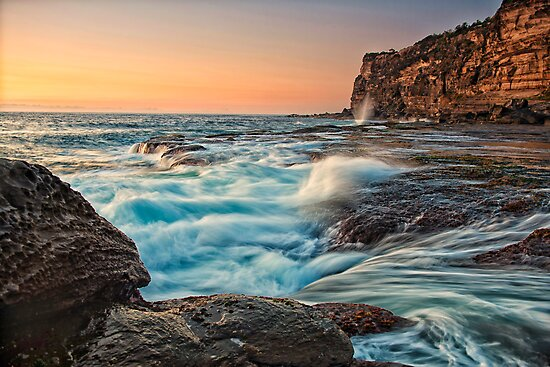 Incoming tide by Drew Walker