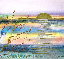 NORTHAM BURROWS SUNSET by Gea Austen