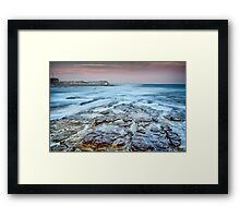 Merewether on the Rocks Framed Print