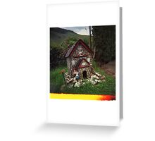 Holga gnome home Greeting Card