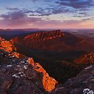 Sunrise from Mt William - Grampians Victoria by Mark Shean