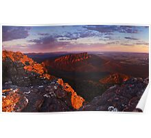 Sunrise from Mt William - Grampians Victoria Poster