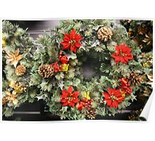 CHRISTMAS WREATH . Poster