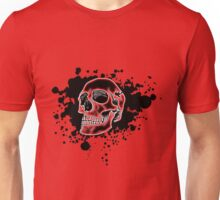 Red Glow Skull Unisex T-Shirt