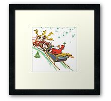 santa claus christmas Framed Print