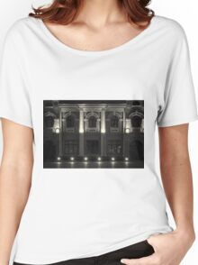 Illuminated Building at Night Women's Relaxed Fit T-Shirt
