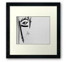 Loving Eye - Black Art Framed Print
