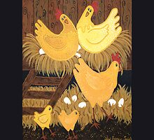 CHOOKIE HOUSE IPAD COVER by Lisa Frances Judd~QuirkyHappyArt