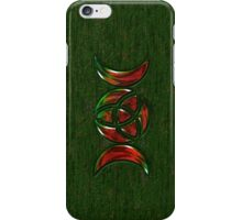 Triple Moon Goddess Symbol with Trinity Knot iPhone Case/Skin