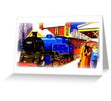 Winter Steam Train Nostalgia Greeting Card