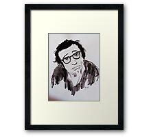 """ Woody Allen"" Framed Print"