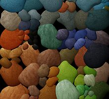 Colored Pebbles iPad Cover by Sonteeg