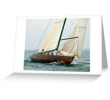 Natural prepares to hoist the spinnaker Greeting Card