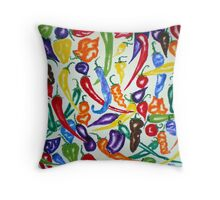 Chilies Carnival Throw Pillow