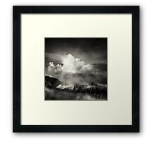 dramatic mountain view Framed Print