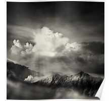 dramatic mountain view Poster