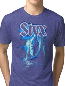 Styx Rock Band Ferryman GUNAHAD01 Tri-blend T-Shirt