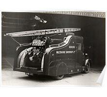 Fire Engine belonging to Ushers Brewery, Trowbridge Poster