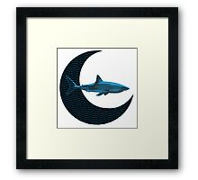 Shark Side of the Moon Framed Print
