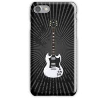 White Electric Guitar iPhone Case/Skin