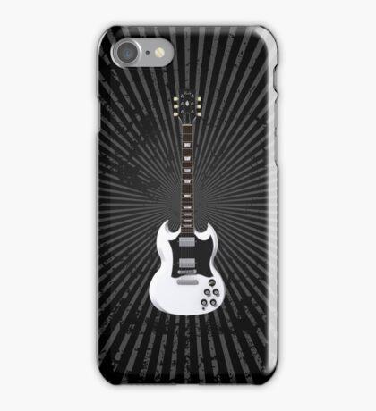 White Electric Guitar iPhone Case/Skin