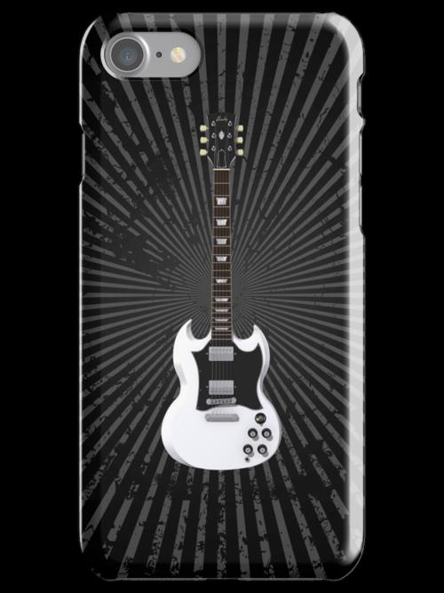 White Electric Guitar by bradyarnold
