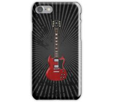 Red Electric Guitar iPhone Case/Skin