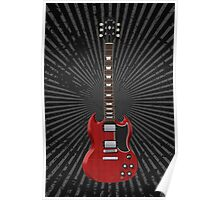 Red Electric Guitar Poster