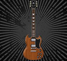 Electric Guitar with Wood Finish by bradyarnold