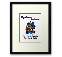 Optimus Prime - One Shall Stand.. Framed Print