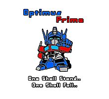Optimus Prime - One Shall Stand.. Photographic Print