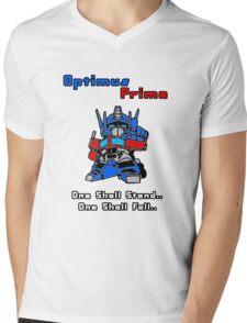 Optimus Prime - One Shall Stand.. Mens V-Neck T-Shirt