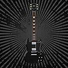 Black Electric Guitar by bradyarnold