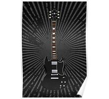 Black Electric Guitar Poster